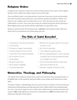 Christian Church History Unit Lesson Plan