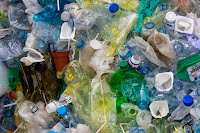 plastic bottles, yogurt containers, bags