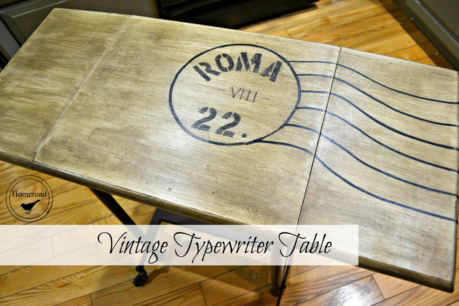 Vintage Typewriter Desk Table www.homeroad.net