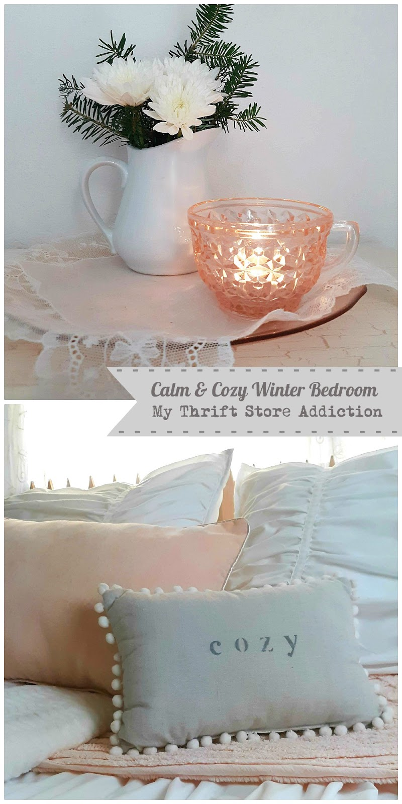 calm and cozy winter bedroom
