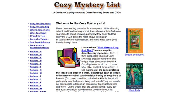 Cozy Mysteries - Plainfield-Guilford Township Public Library