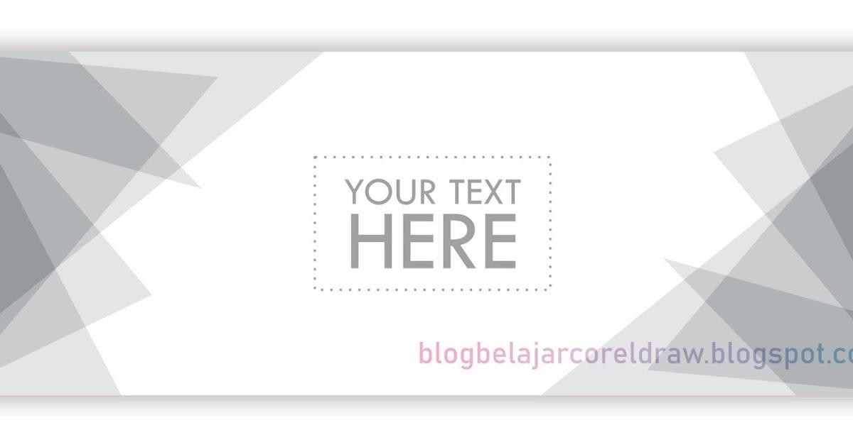 Template Desain Banner Warna Grey Format Vector CorelDRAW