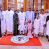 President Buhari observes Eid-Kabir prayers with his family and aides in Abuja.
