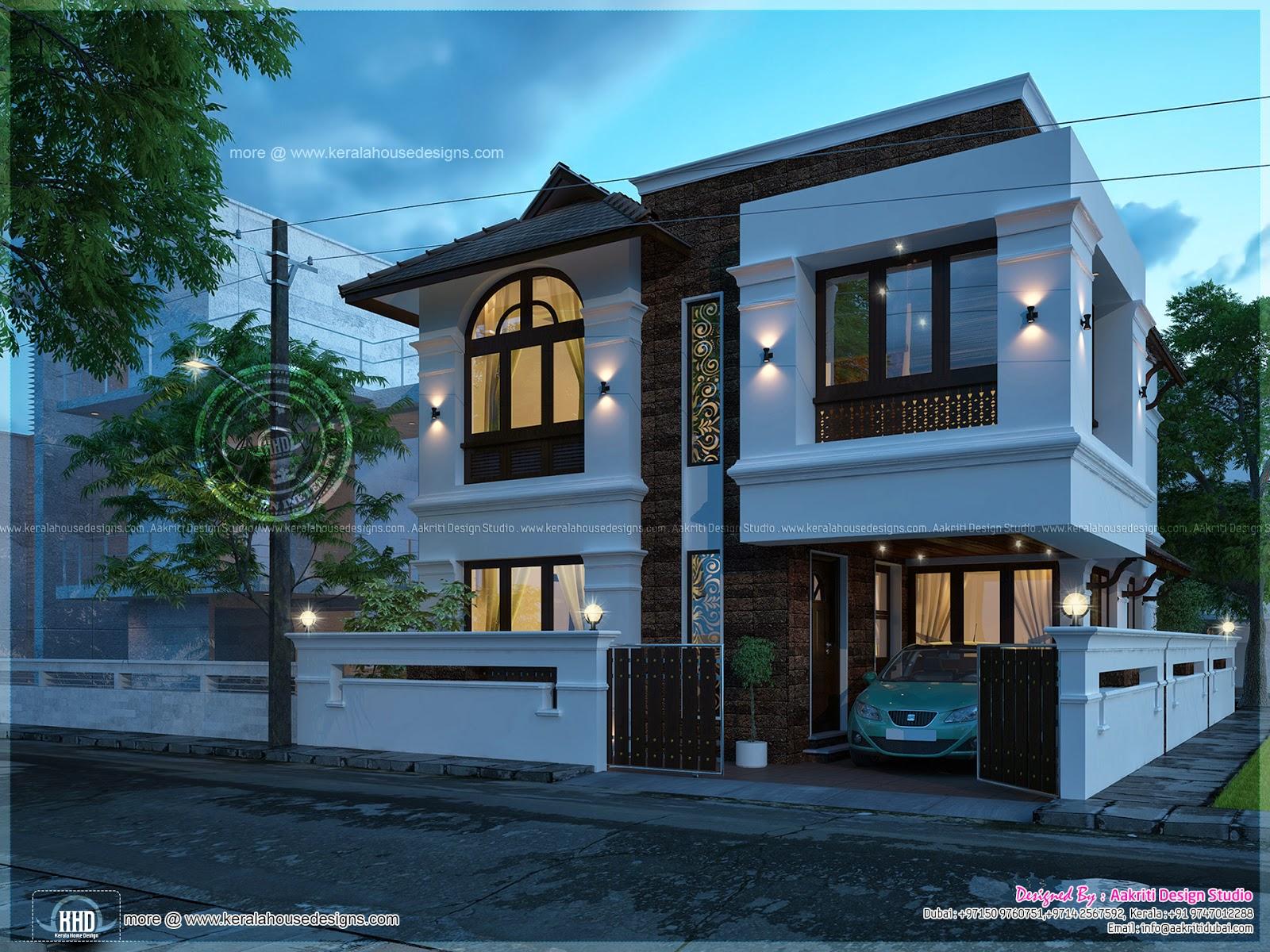 3 bedroom villa in 1790 square feet   Home Kerala Plans