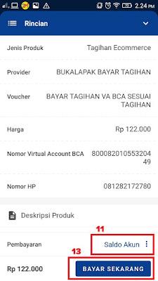 Hasil Tagihan Virtual Account BCA