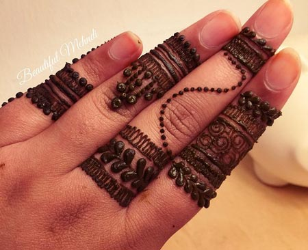Alluring Ring Mehndi Designs For Fingers