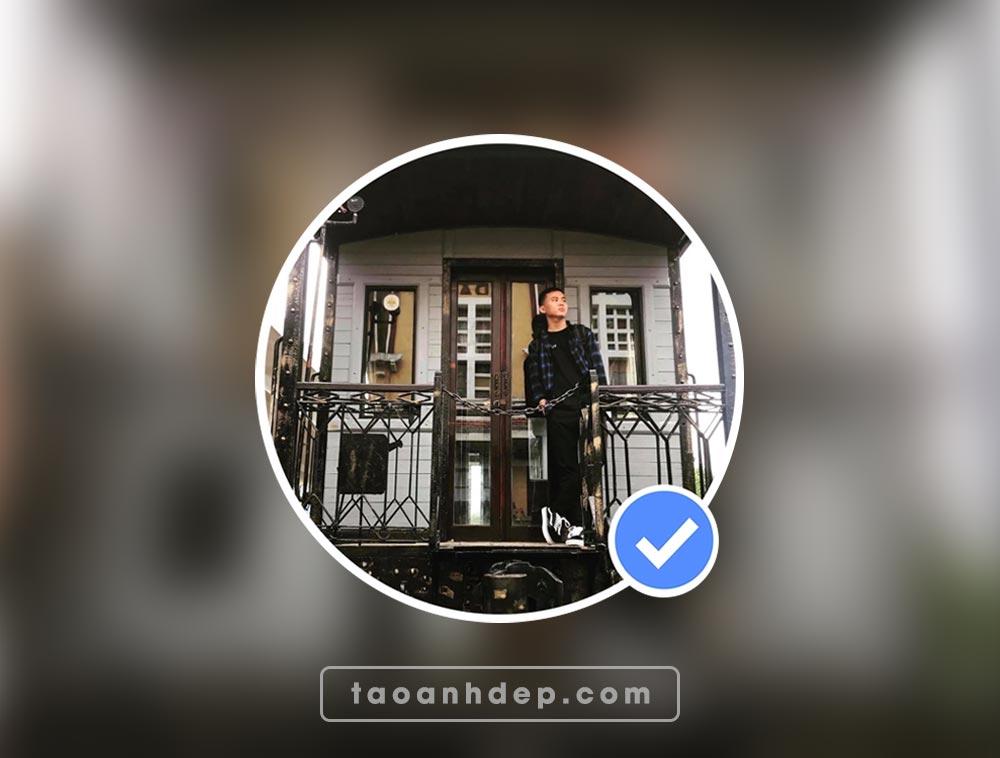 Tạo ảnh avatar facebook dấu tích xanh Online