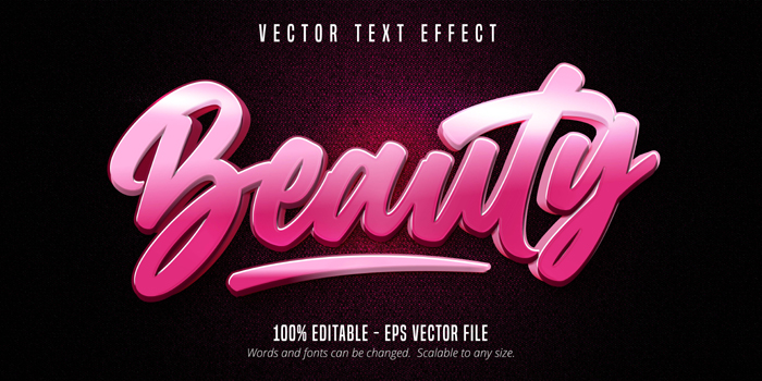 Beauty Text Pink Color Calligraphy Style Editable Text Effect