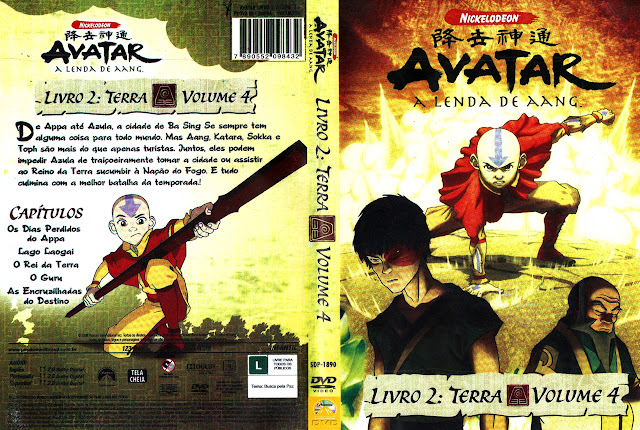 Capa DVD AVATAR A LENDA DE AANG LIVRO 2: TERRA VOLUME 4