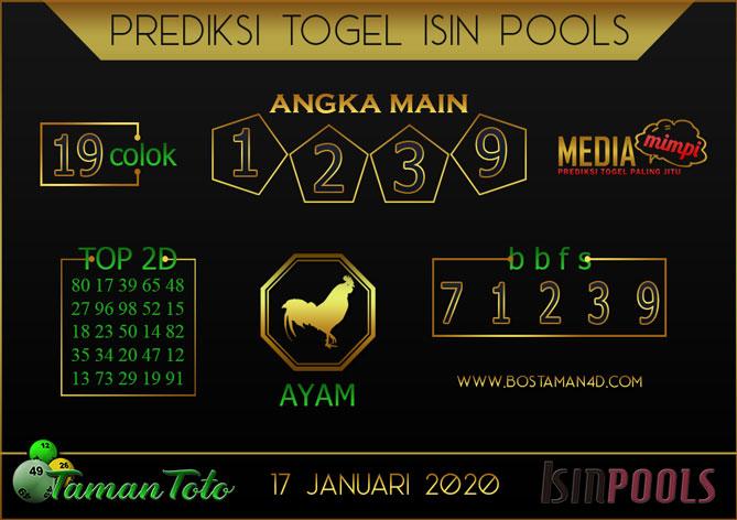 Prediksi Togel ISIN TAMAN TOTO 17 JANUARI 2020