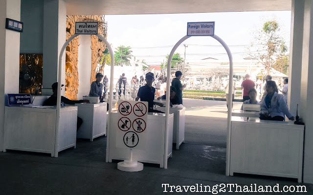 Entrance of the White Temple in Chiang Rai - Thailand