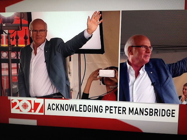 Screenshot CBC coverage Canada 150, Ottawa - Peter Mansbridge to retire after ceremony