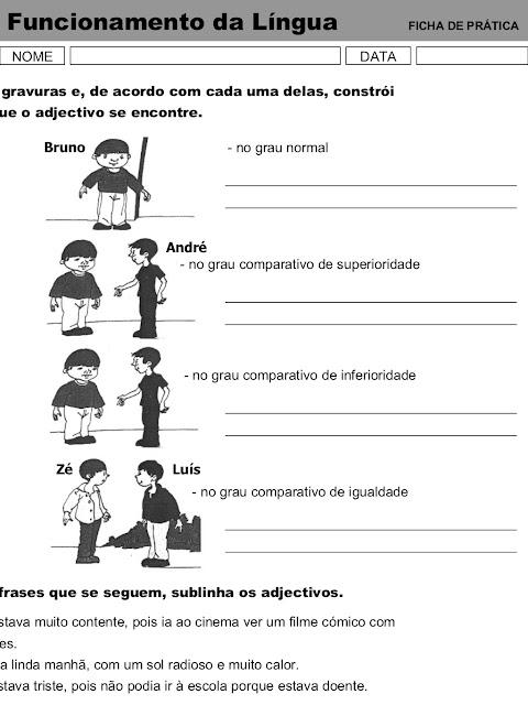 Atividades de Gramática