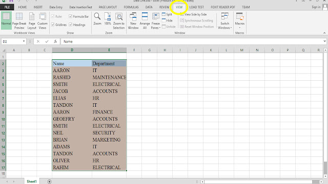 How to View Excel Sheets Side by Side for Data Compare & Analysis