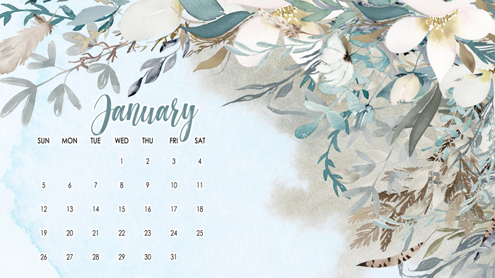 January Calendar Wallpaper