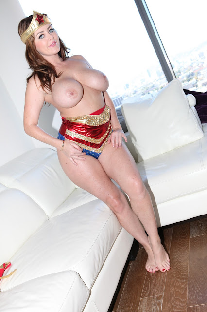 Sophie Dee sexy wonder woman naked boobs sexy smile