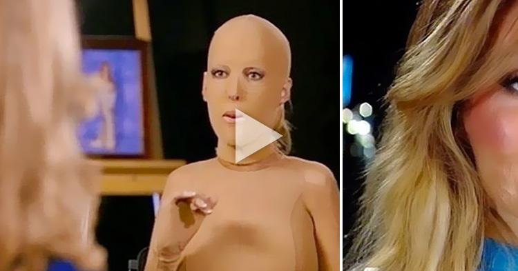 Faceless Woman removes her mask for the first time in 2 years, after what happened to her