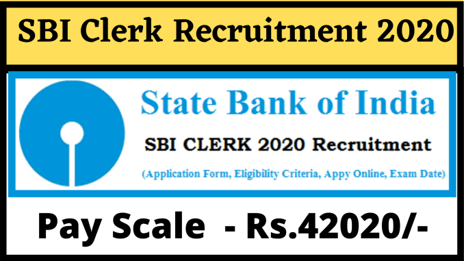 sbi online application form for the post of clerk