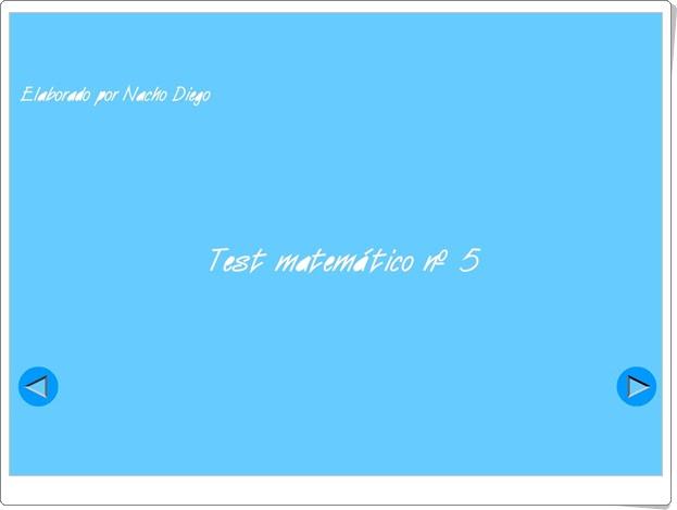 """Usa el coco: """"Test matemático Nº 5"""" (Triángulos, paralelogramos, circunferencia y círculo)"""