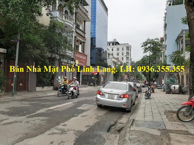 Bán nhà mặt phố Linh Lang, Ba Đình