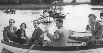 Britten, Pears & friends on Thorpeness Meare - photo Aldeburgh Festival/Ford Jenkins