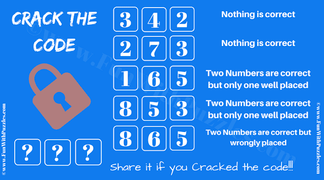 It is Crack the Code Puzzles in which your challenge is to decode the 3 digit number combination