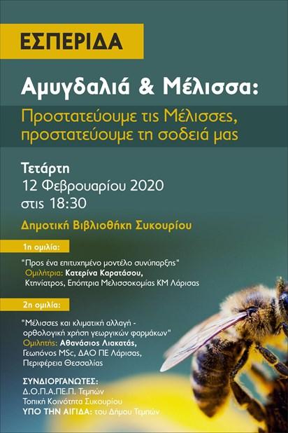 Εκδήλωση για την αμυγδαλιά και τις μέλισσες από τον Δήμο Τεμπών