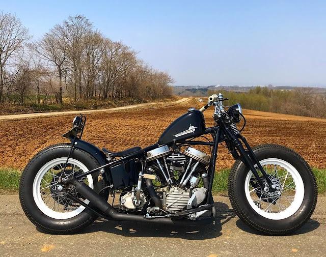 Harley Davidson Panhead 1952 By Yoichi Mizuno Hell Kustom