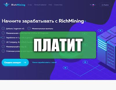 Скриншоты выплат с хайпа richmining.online