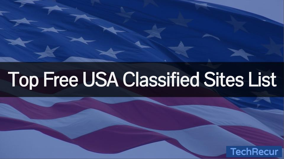 Free USA Classified Sites List 2021