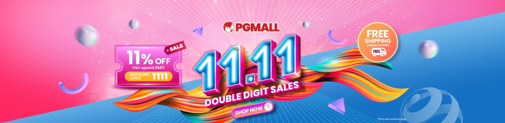 Yeah!! 11.11 Double Digit Sales & Kempen Beli Barangan Malaysia