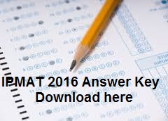 IPMAT 2016 Answer Key