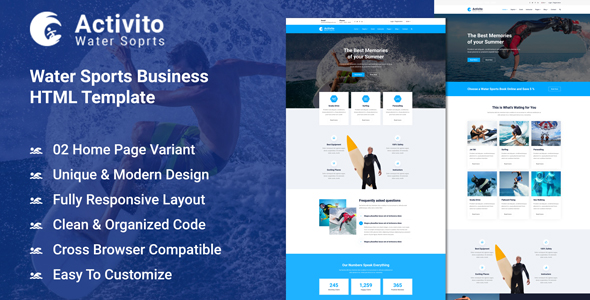 Water Sports Business HTML Template