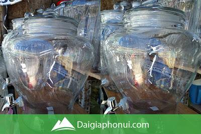 Bình ngâm rượu trung quốc hình chum trơn có van/vòi giá rẻ tại tphcm