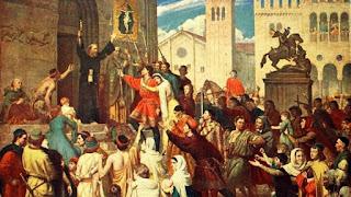 Pedro el Ermitaño arengando a la Cruzada