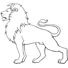 White Lion For Coloring Pages