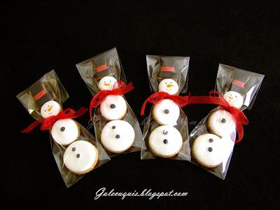 galletas glasa muñecos de nieve
