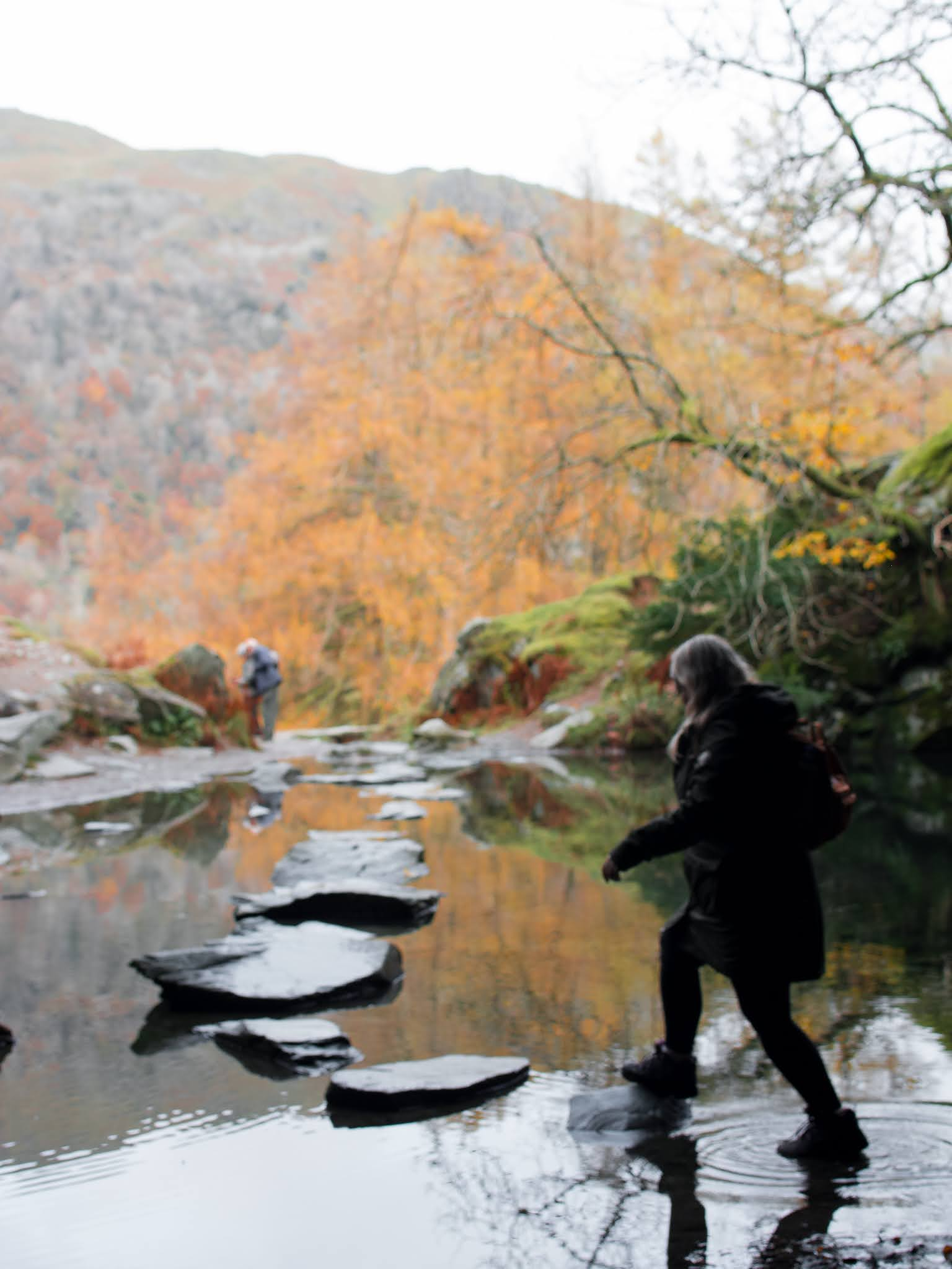 Rydal Cave stepping stones