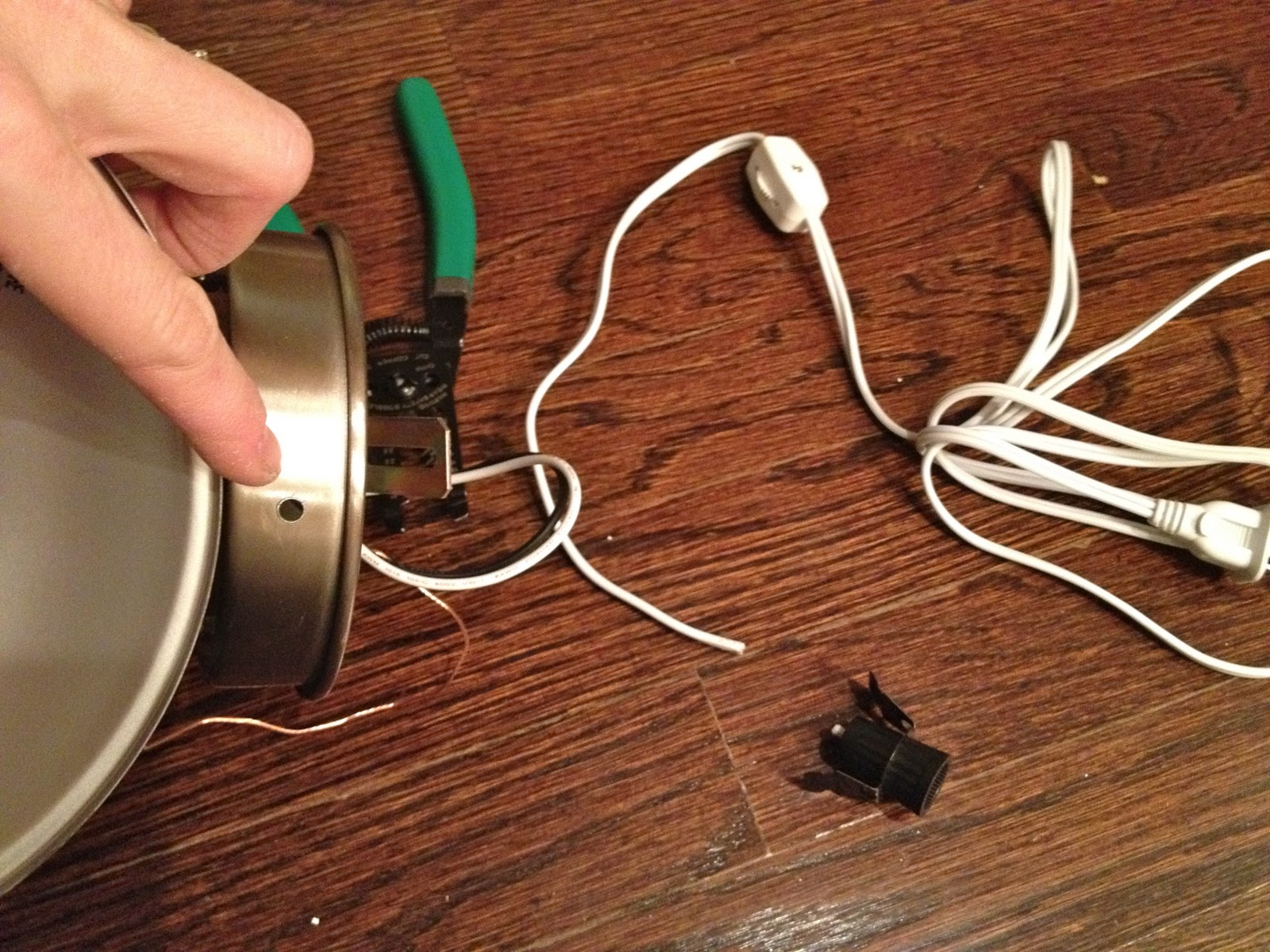 Converting Hard Wired Sconces To Plug In Jaime Costiglio How Wire A Convert