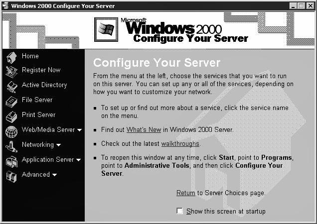 how to configure windows 2000 server