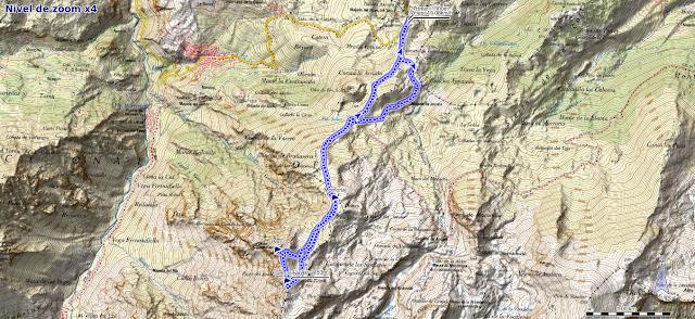 Mapa de la ruta Jito Escarandi, Cueto Tejao