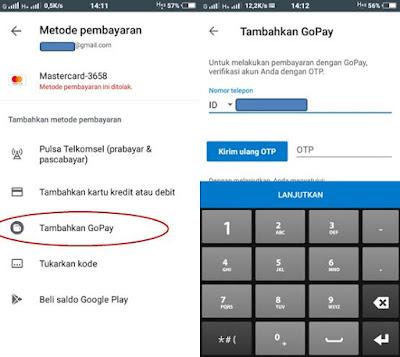Cara Menambahkan Go Pay Pada Pembayaran di Play Store