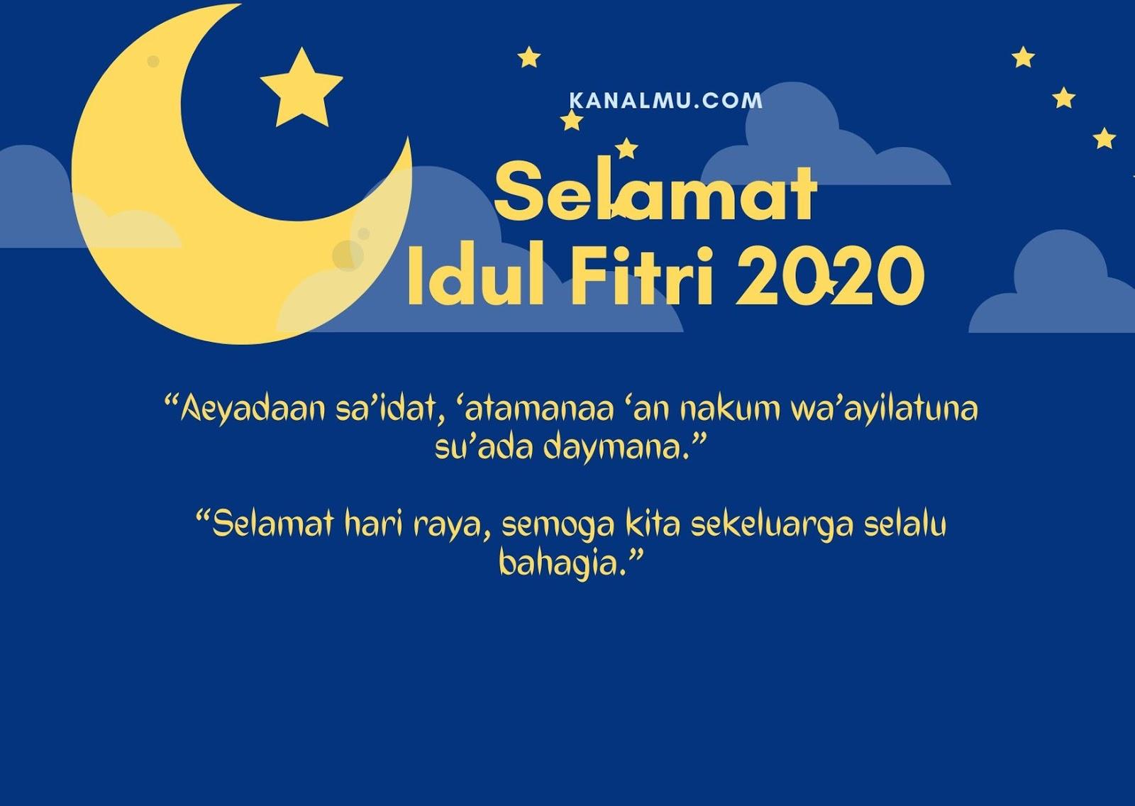 Gambar Kartu Ucapan Kata Kata Idul Fitri 2020 Tahun 1442 H