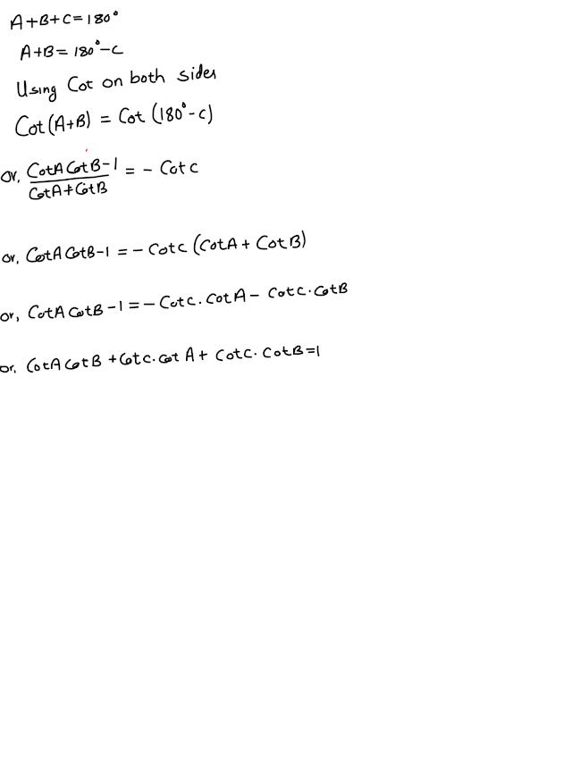CotA CotB + CotC CotA + CotC CotB =1