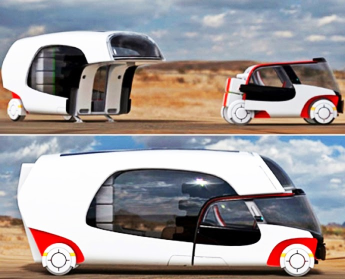The Detachable Vehicle Seats Two People And Bears A Stricking Resemblance To Tiny Smart Cars You May Have Seen Cruising Around Town
