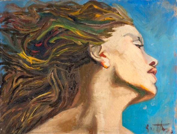 Profilo di giovane donna con capelli al vento - Il ...