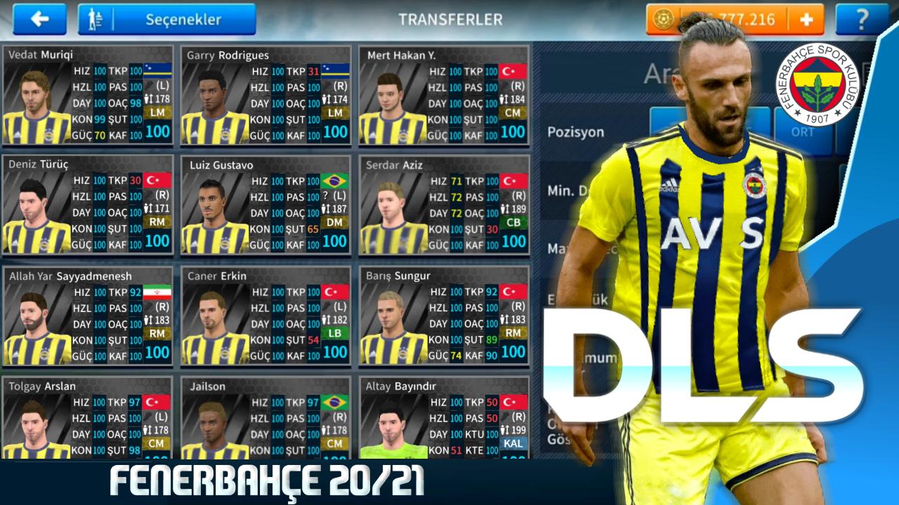 Dream League Soccer 2021 Fenerbahçe Yaması - En Güncel Transferler