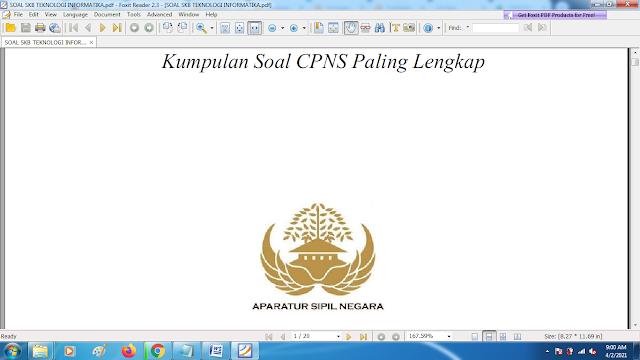 Download contoh soal pppk skb teknologi informatika dan kunci jawaban