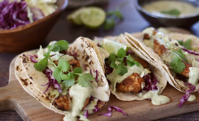 grilled chicken taco recipe with avocado cilantro dressing