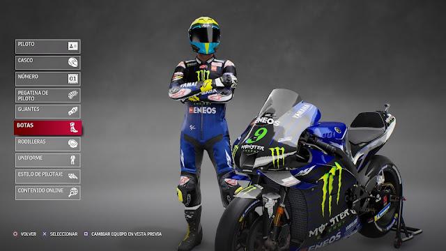 MotoGP 21 Personalizando nuestro piloto